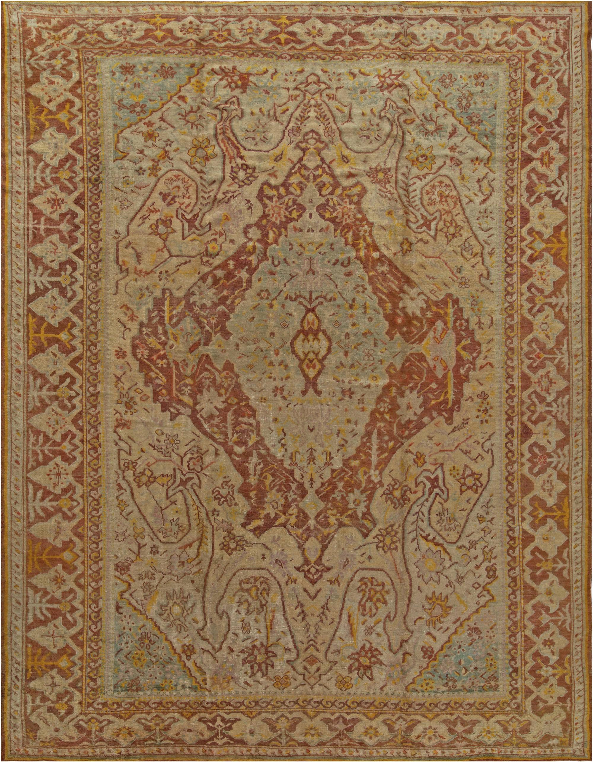 Antique Turkish Oushak Rug BB6830