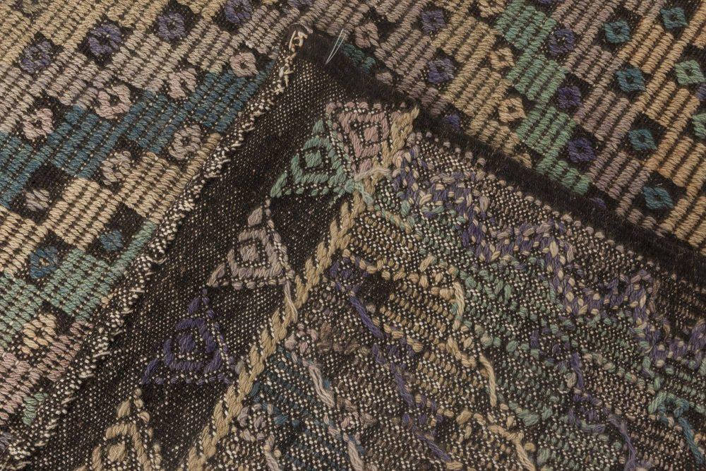 Midcentury Moroccan in Pastel Shades Handmade Kilim Rug BB6868