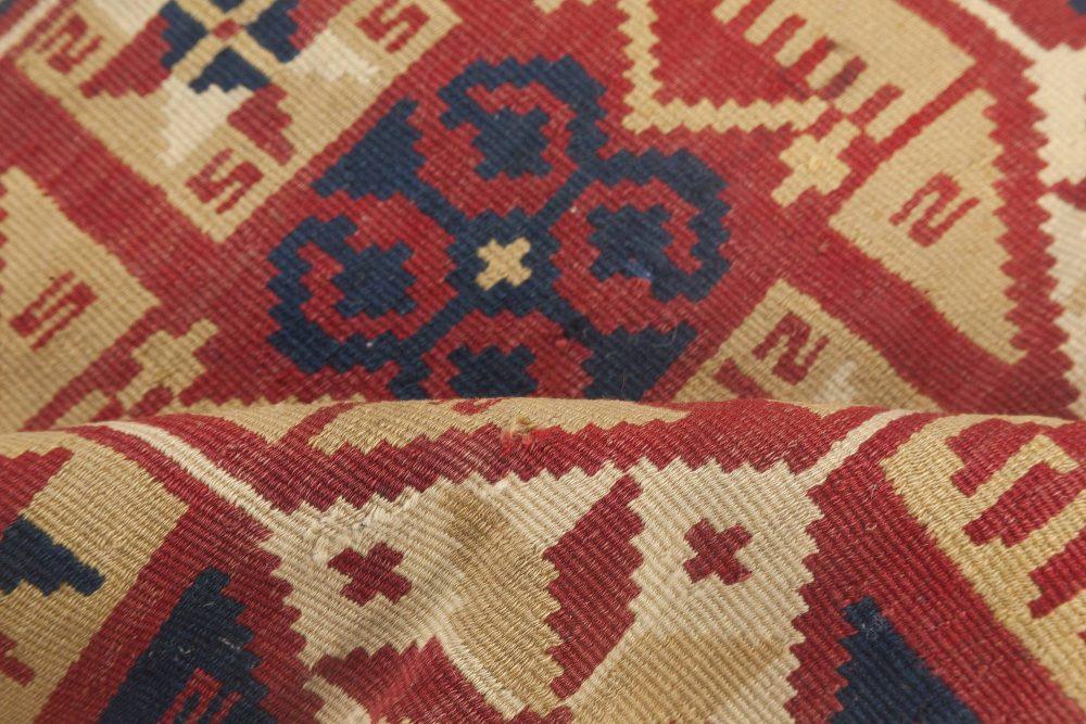 One-of-a-kind Swedish Geometric Flat-Weave Rug BB6636