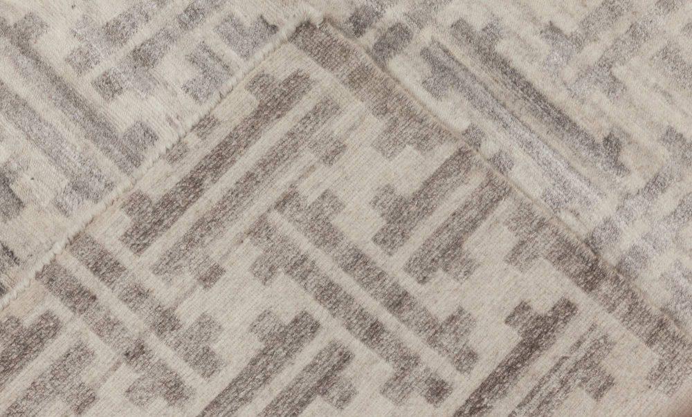 Over-sized Modern Terra Rug in Natural Wool N11757