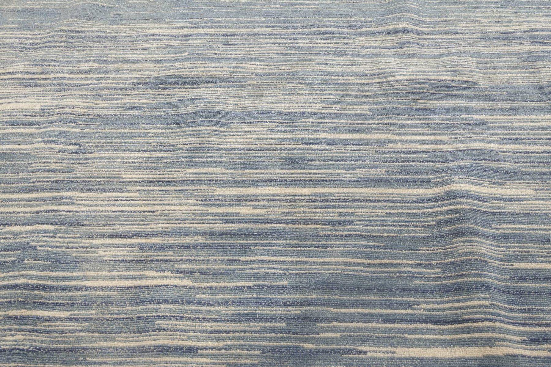 Blue Modern Handmade Rug N11813