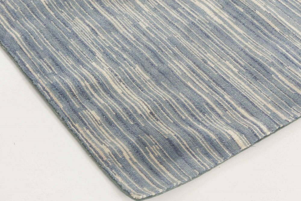 Modern Handmade Blue Rug N11813