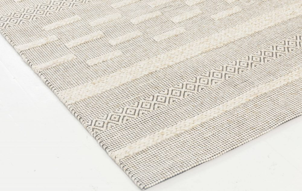 Bauer Collection Geometric Beige Hand Knotted Wool Rug I N11843
