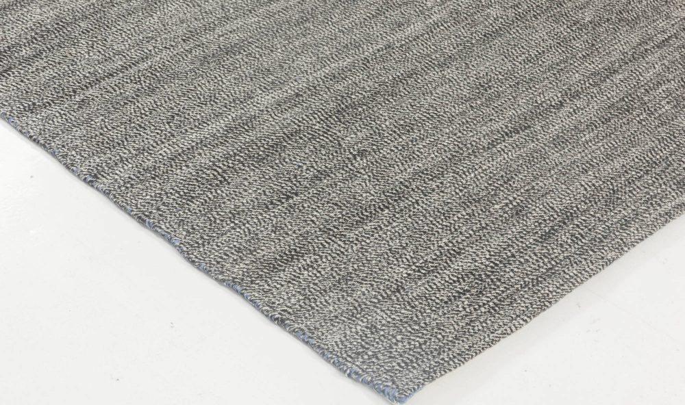 Bauer Collection Minimalist Grey Handmade Wool Rug I N11834