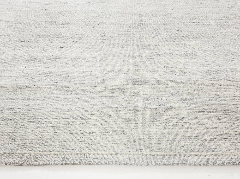 Contemporary Bauer Collection Minimalist Design Light Gray Rug III N11839