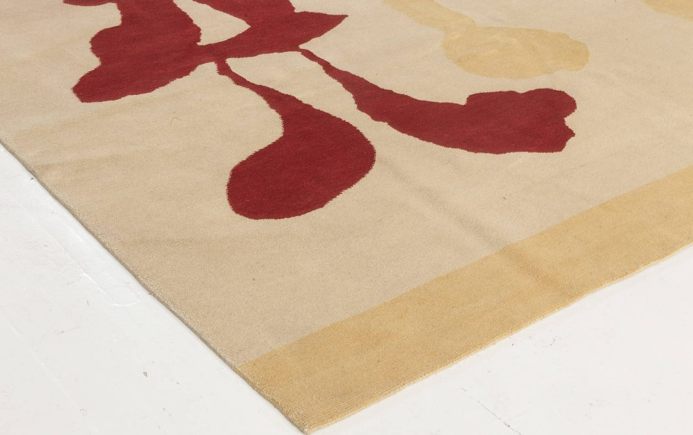 Mother and Child Modern Hand Knotted Wool and Silk Rug N11784