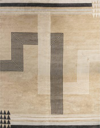 Over-sized   Marion Dorn Inspired Deco Geometric Rug N11819