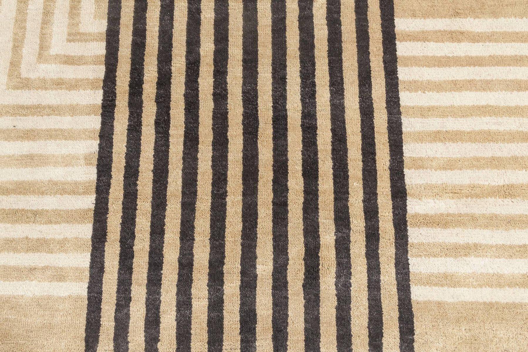 New Oversized Marion Dorn Inspired Art Deco Geometric Wool Rug N11819