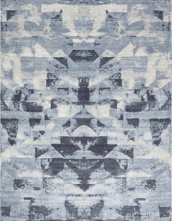 Blue Braque Abstract Geometric Rug N11758