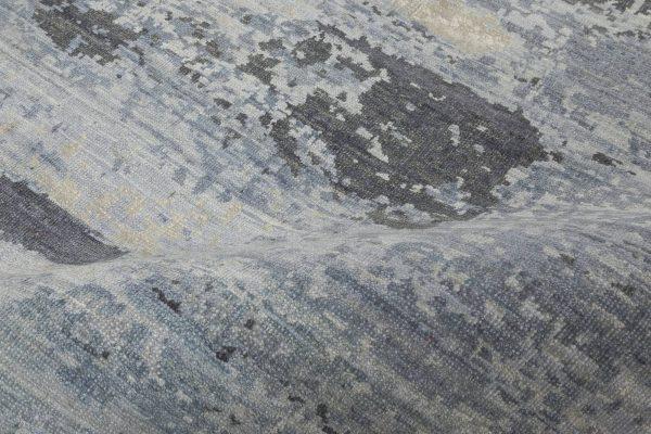 Blue Braque Abstract Geometric Rug N11758