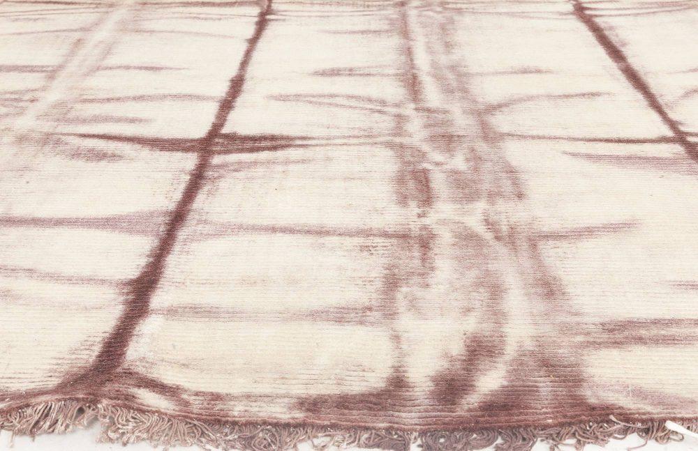 Cinnabar Tie Dye Modern Hand-knotted Silk Rug N11779
