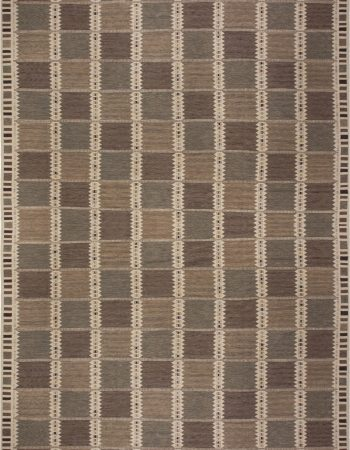 Over-sized  Swedish Design Flat Weave Rug N11767