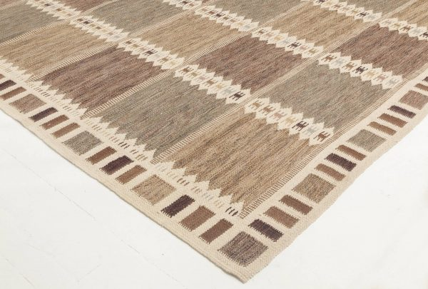 Over-sized  Swedish Design Flat Weave Rug N11767