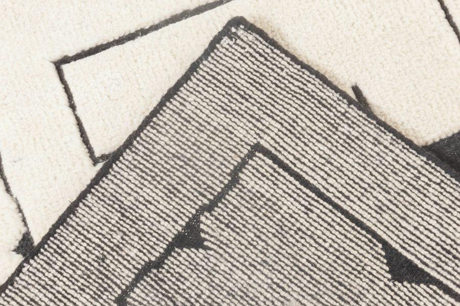 Swedish Skvattram Half Pile Geometric Rug II N11847