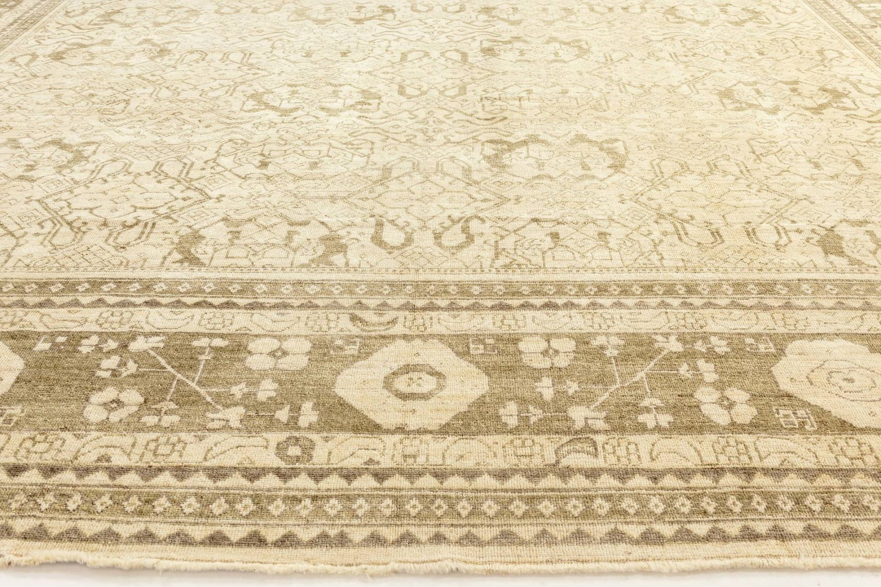 Oversized Contemporary Oushak Rug N11826