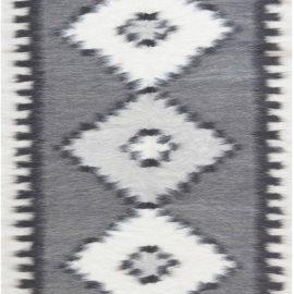 Contemporary Stamverband X Gray and White Geometric Rug N11855