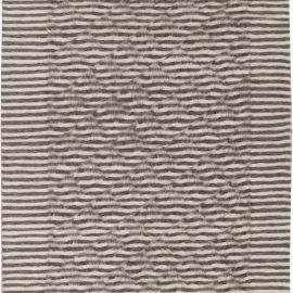 Goat Hair Taurus Collection Rug in Shades of Beige & Brown Stripes N11472