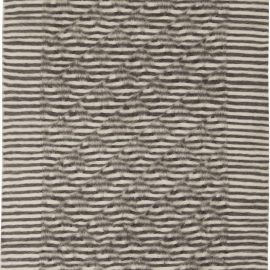 Taurus Collection Rug in Shades of White and Anthracite Stripes N11459