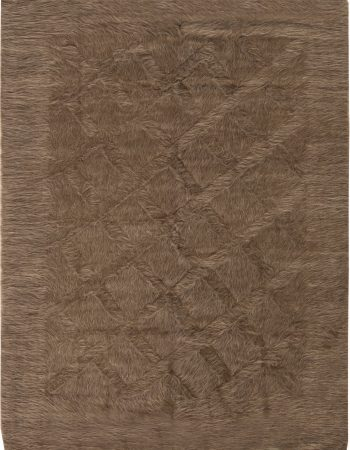 Modern Striped Creamy White and Dark Gray Taurus Collection Rug N11464