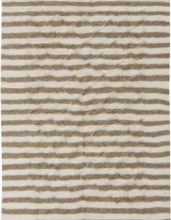 Stamverband IIII White, Gray and Black Handwoven Rug N11830