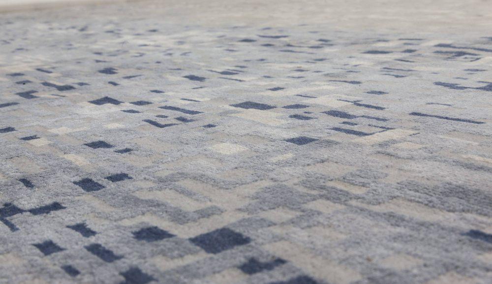 Pool Tile Rug in Blue and Grey N11754