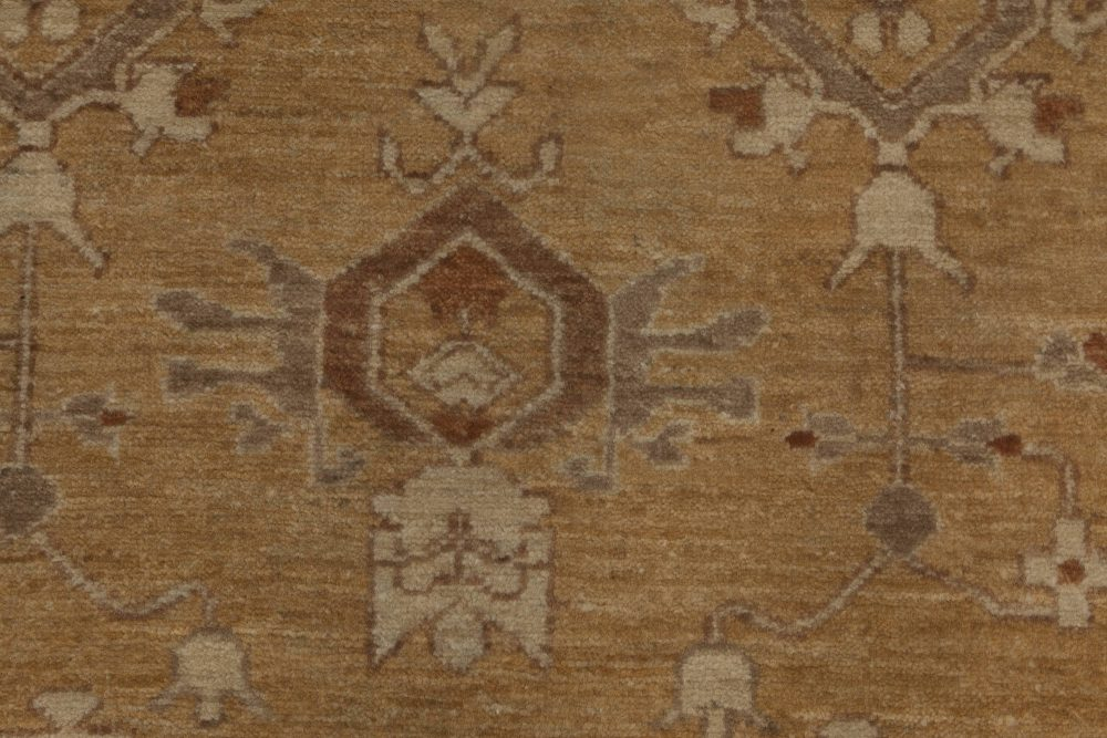 Traditional Inspired Beige, Brown and Grey Tabriz Rug N11793