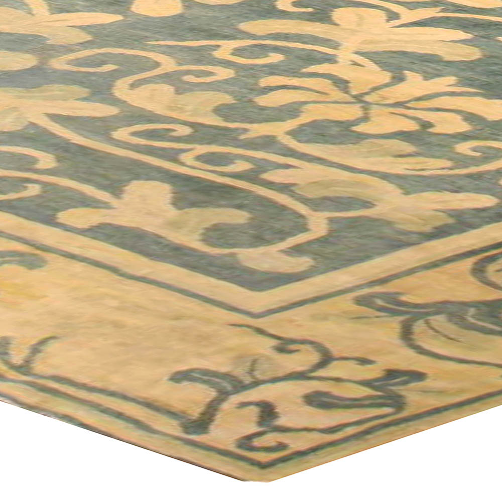 Large Vintage Chinese Art Deco Carpet Bb6723 By Dlb