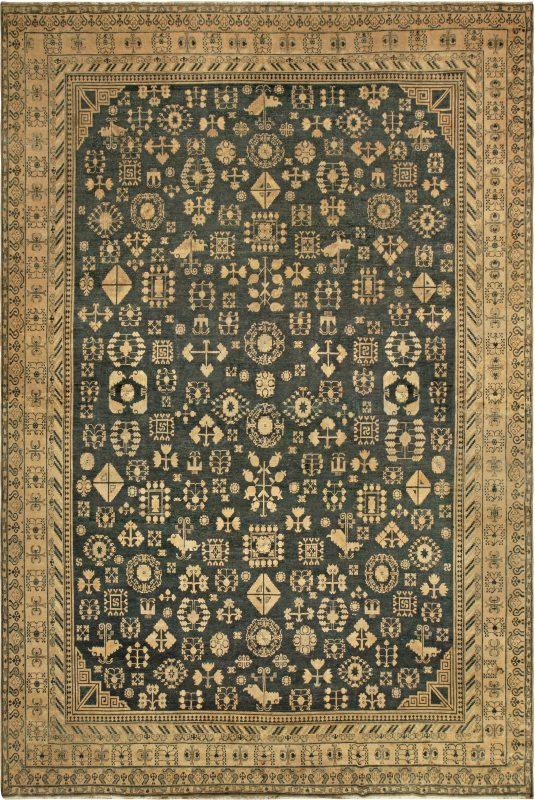vintage-carpet-chinese-samarkand-khotan-.htm-green-botanical-17×11-bb6778