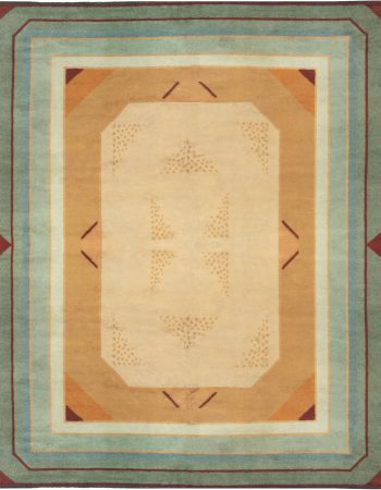 VINTAGE FRENCH ART DECO RUG BB6641