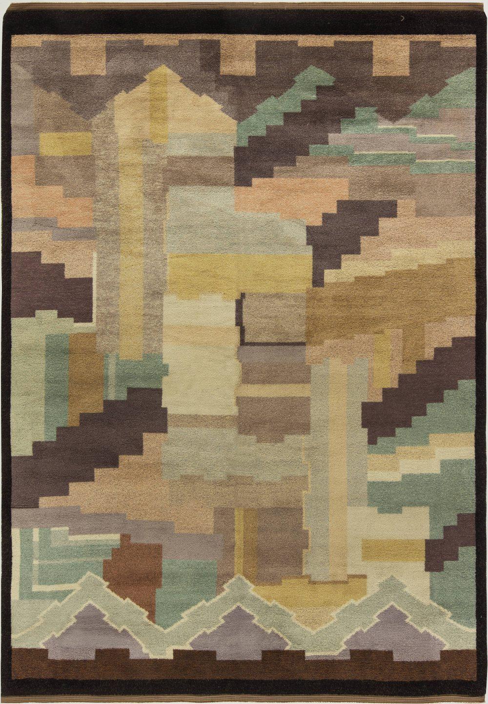 Finish Art Deco Rug by Greta Skoaster Woven at Kiikan Kutamo Workshop BB6858