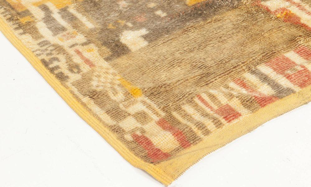 Moroccan Mocha, Carmine, Brown, Gray, Beige and Yellow Wool Rug BB6879