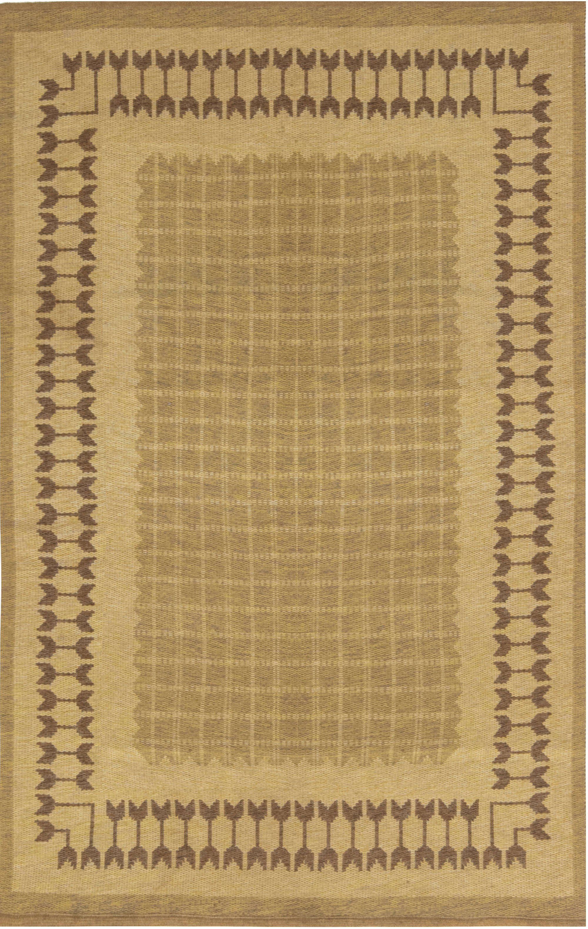 VINTAGE SWEDISH FLAT WEAVE DOUBLE SIDED RUG BB6869