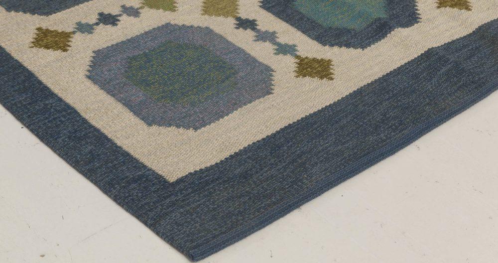 Vintage Swedish Flat Weave Rug by Birgitta Solderkvist BB6661