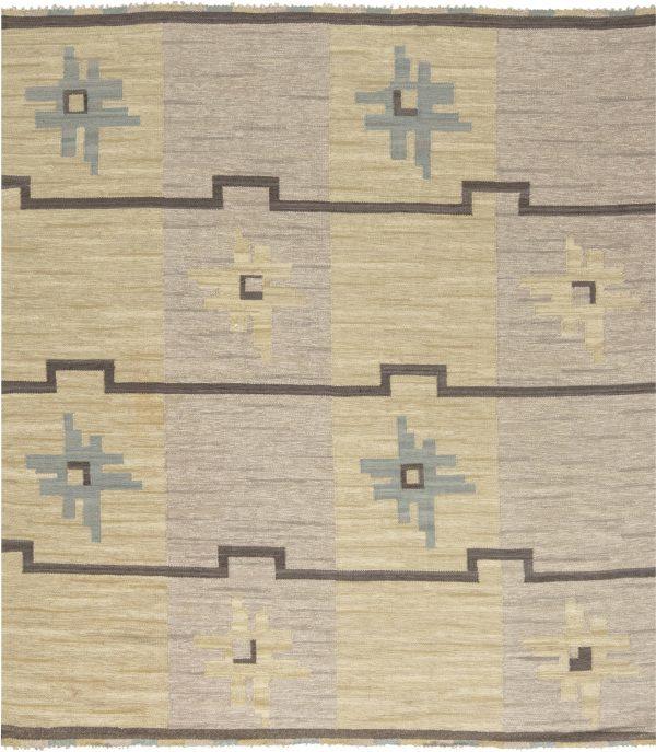 Vintage schwedische Flachgewebe Teppich von Sodra Kalmar BB6591