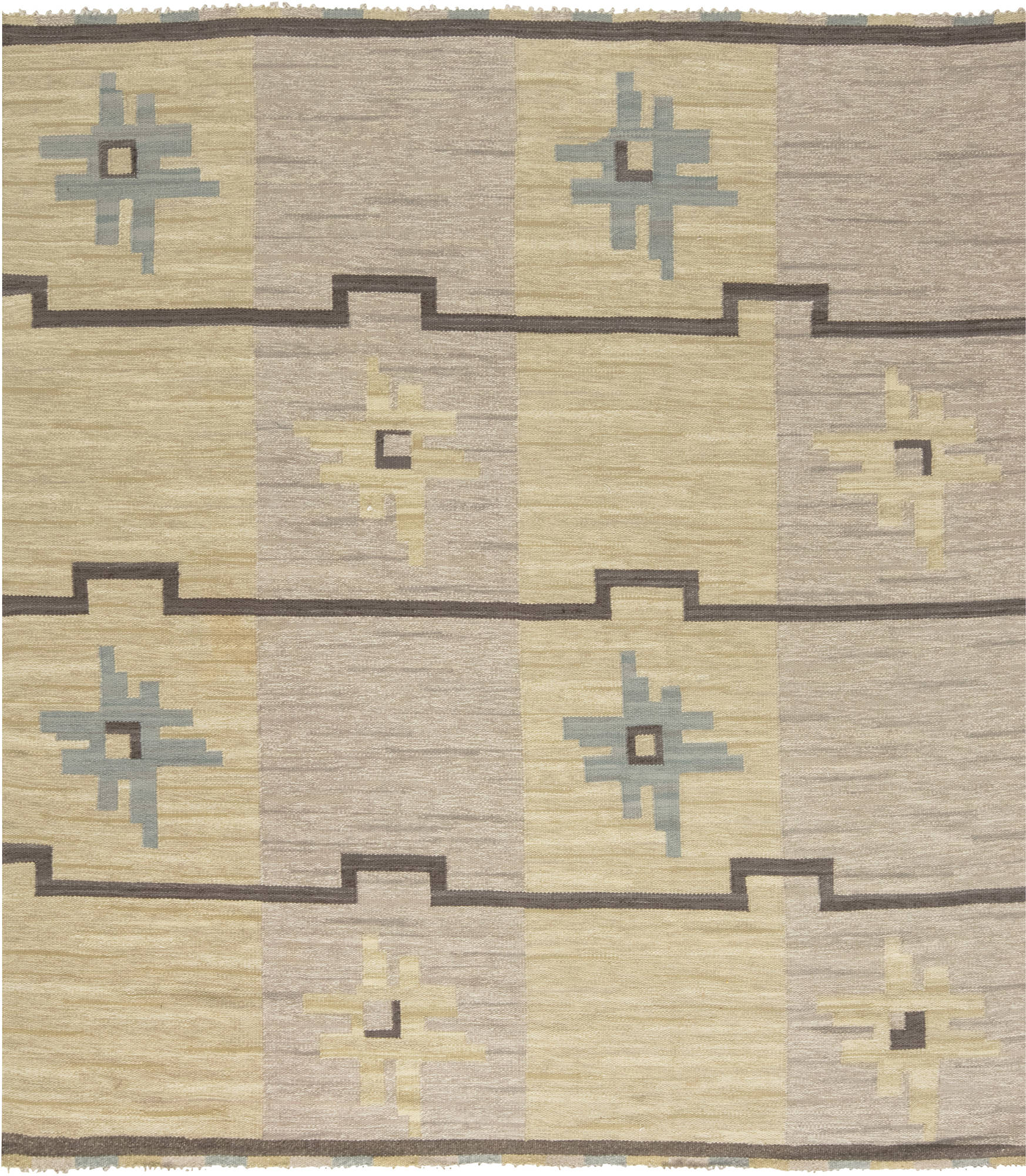 Vintage Swedish Flat weave Rug by Sodra Kalmar BB6591