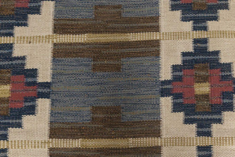 Mid-Century Modern Hand-woven Swedish Runner by Ida Rydelius BB6662