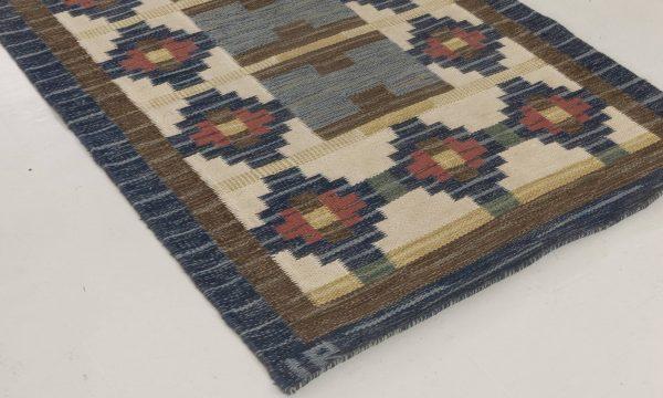 Vintage Swedish Flat weave rug by Ida Rydelius BB6663