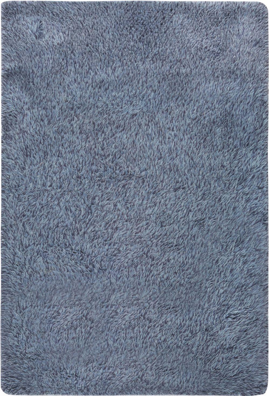 Midcentury Swedish Rya Blue Rug BB6627