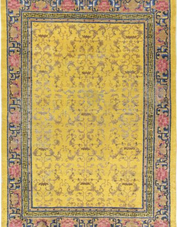Antique Silk Chinese Rug BB6903