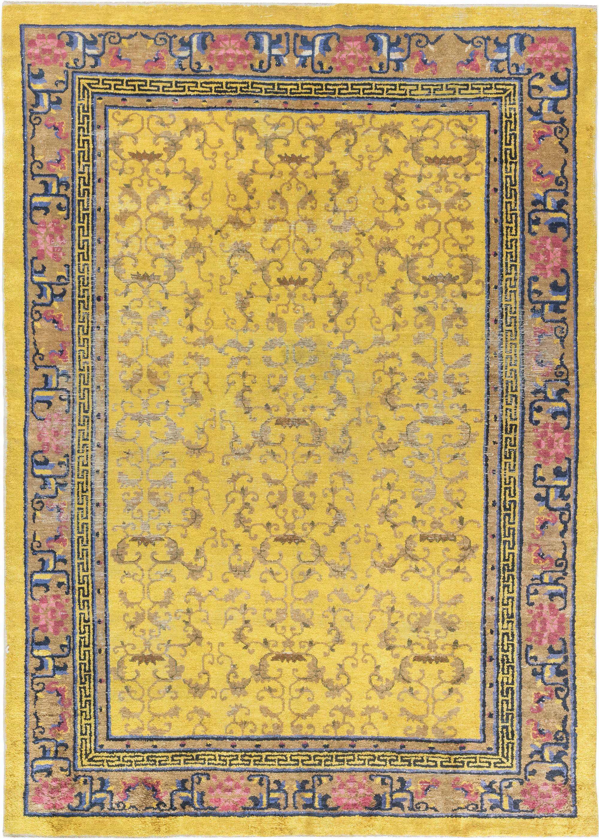 Antique Silk Chinese Rug BB6903
