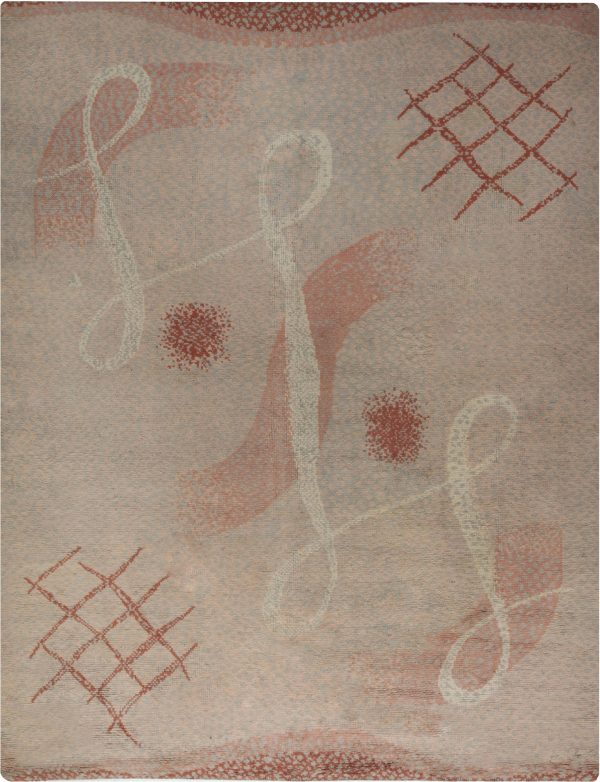 Vintage French Art Deco Rug BB6583