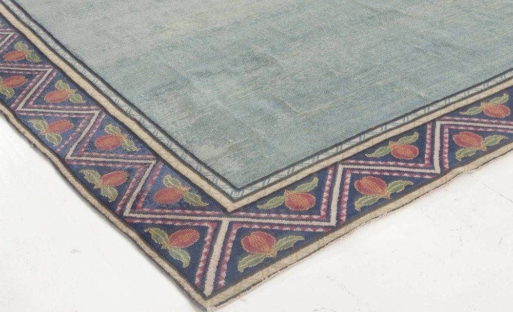 Jews David Star Blue and Red Handwoven Wool Marbadia Rug BB6902