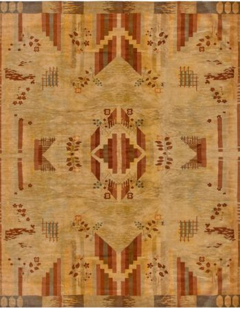 Vintage French Art Deco Carpet BB6768