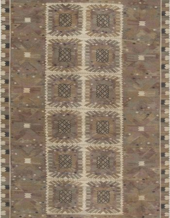 Large Tribal Style Modern Moroccan Wool Area Rug in White and Grey N12129