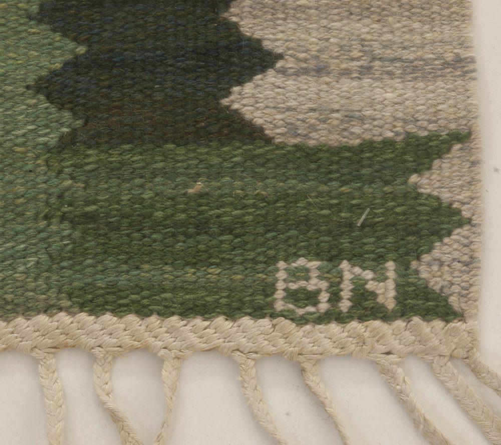 "Vintage Swedish Flat weave Rug by Marta Maas-Fjetterstrom ""CARNATION"" BB6655"