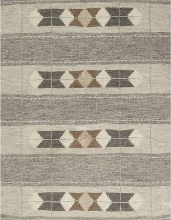 VINTAGE SWEDISH FLAT WEAVE RUG BB6882