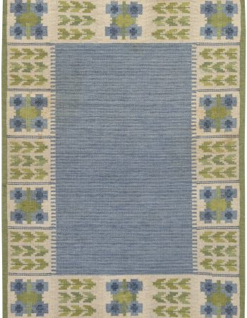 Vintage Swedish Flat Weave Rug  by Berit Woelfer BB6871