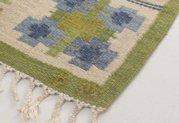 Alfombra de tejido plano sueco vintage de Berit Woelfer BB6871