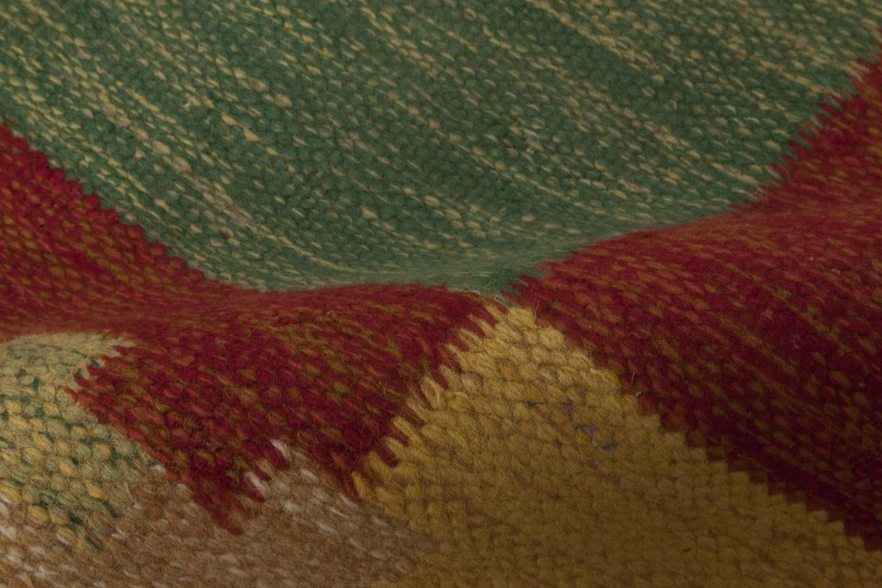 Swedish Red, Yellow and Green Flat-Weave Runner by Sverker Greuholm BB6658