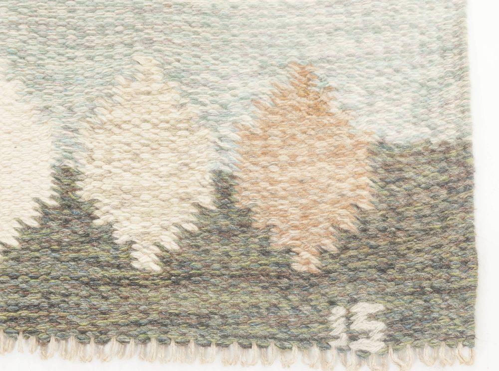 Vintage Swedish Flat-Weave Rug Signed by Ingegerd Silow BB6889